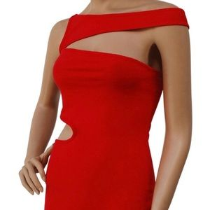 Dresses & Skirts - Red cutout dress NWT